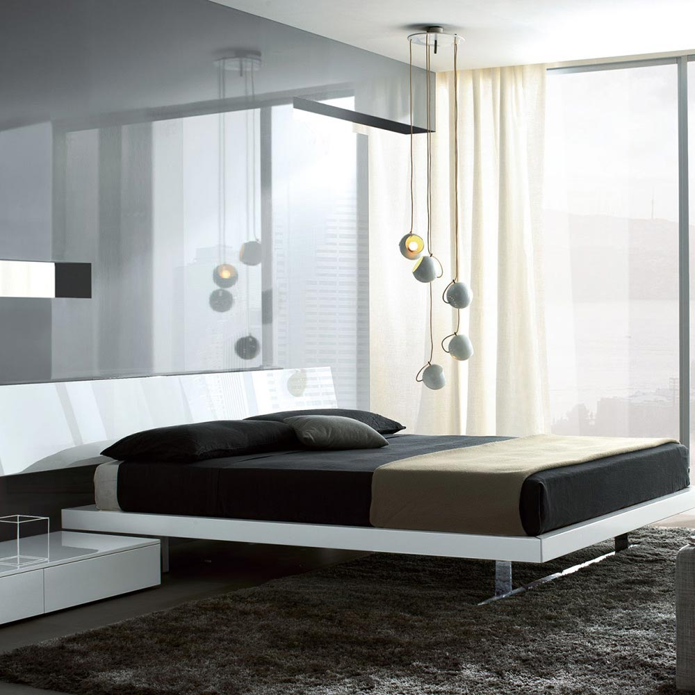 Slim Double Bed by Misura Emme