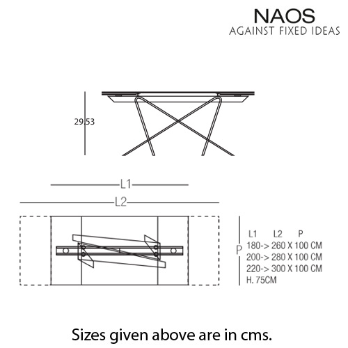 Double Extending Dining Table by Naos