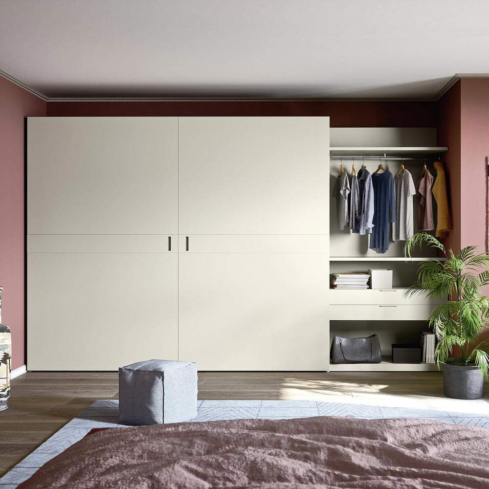 Class Flush Closing Sliding Door Wardrobe by Novamobili