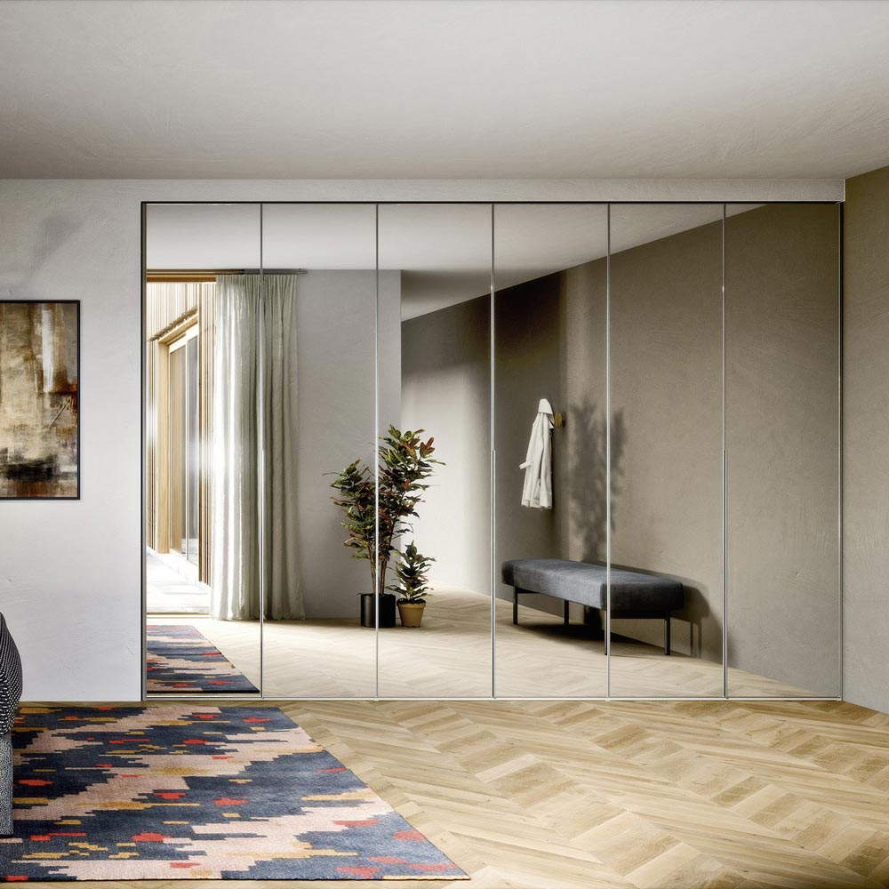 Crystal Hinged Door Wardrobe by Novamobili