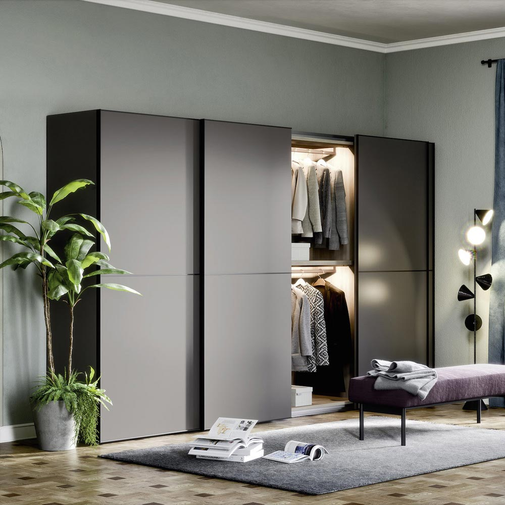 Dover Sliding Door Wardrobe by Novamobili