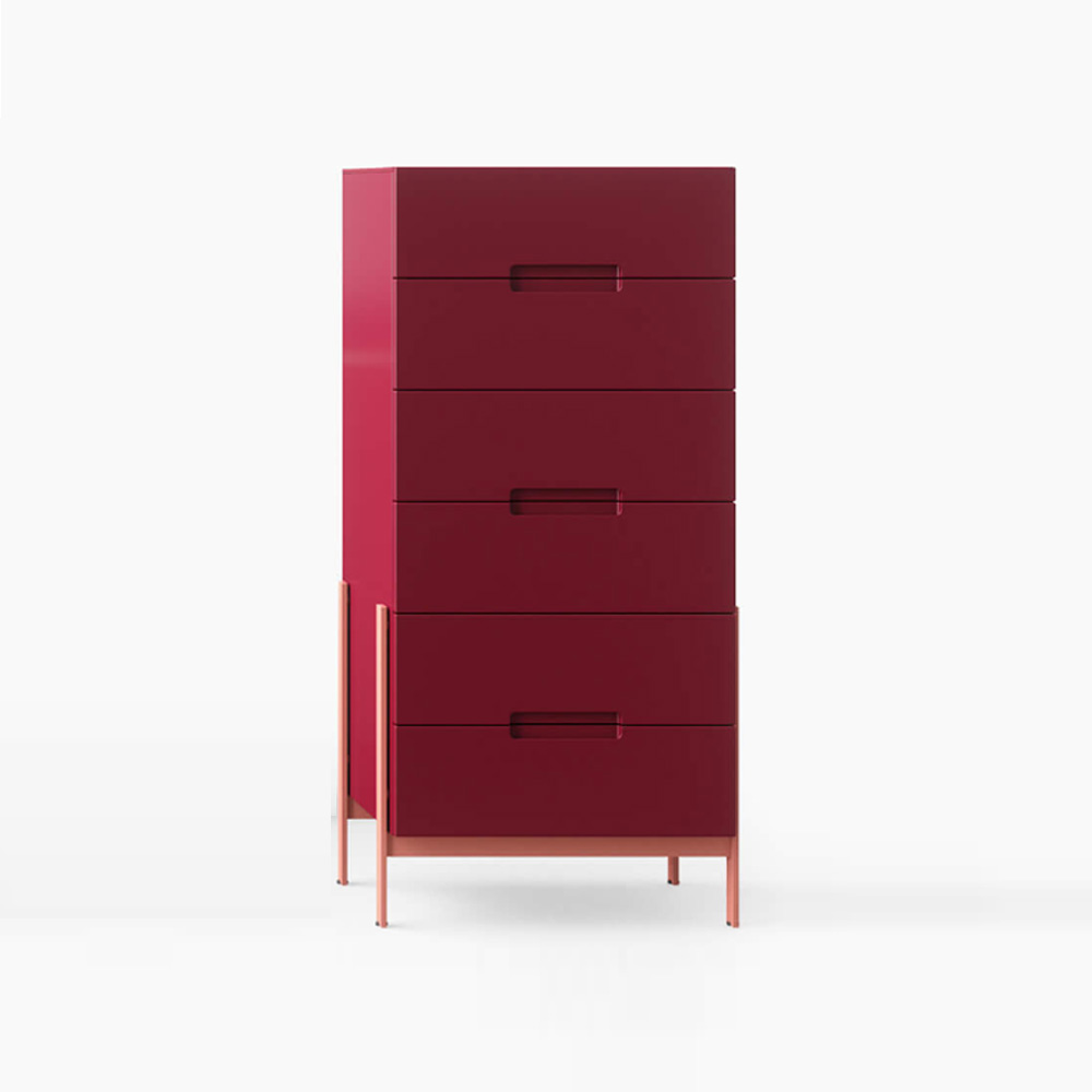 Float 6 Drawer Tallboy by Novamobili