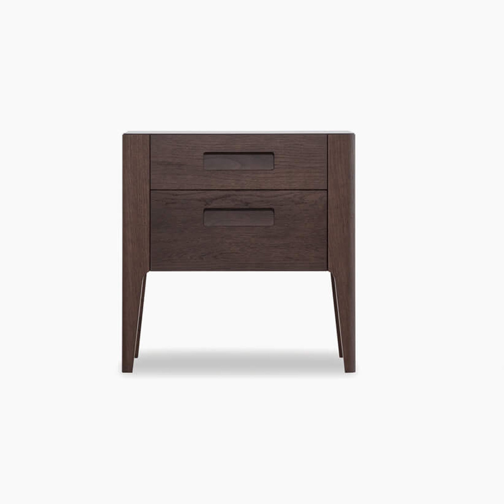 Giotto 2 Drawer Bedside Table by Novamobili