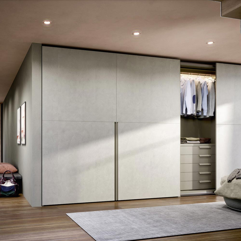 Picture Flush Closing Sliding Door Wardrobe by Novamobili