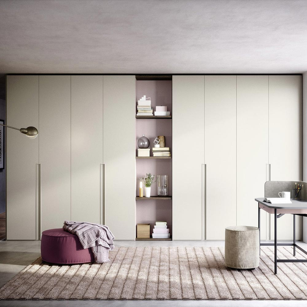 Unique Hinged Door Wardrobe by Novamobili