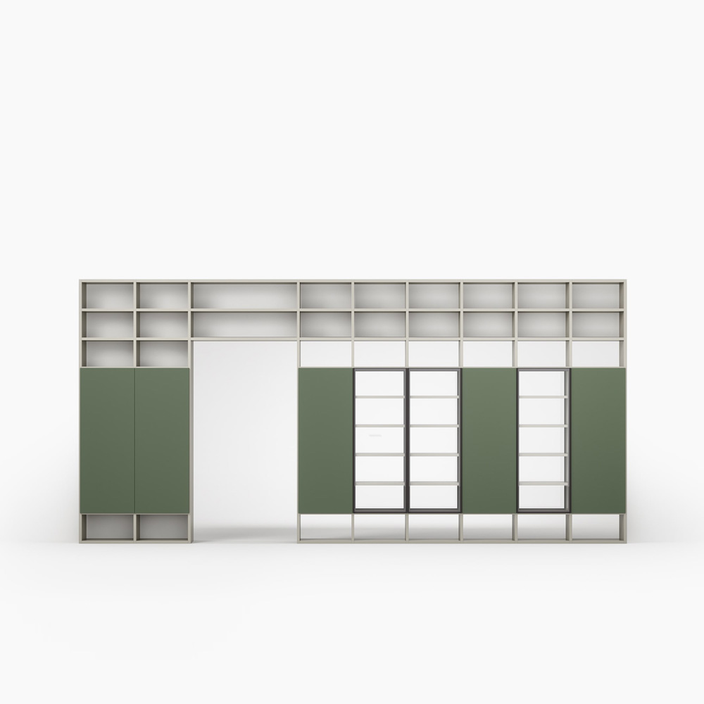 Wall 30 Bookcase by Novamobili