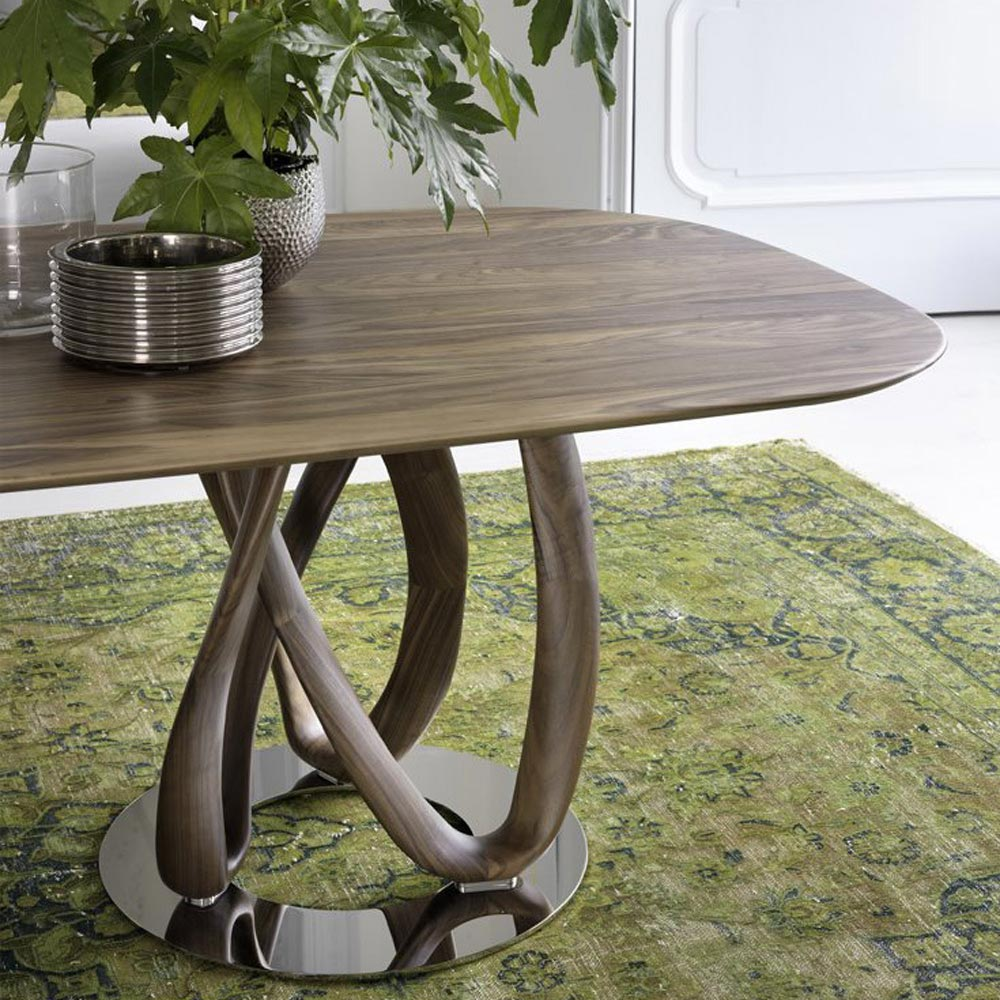 Infinity Oval 1 Base L Dining Table by Porada