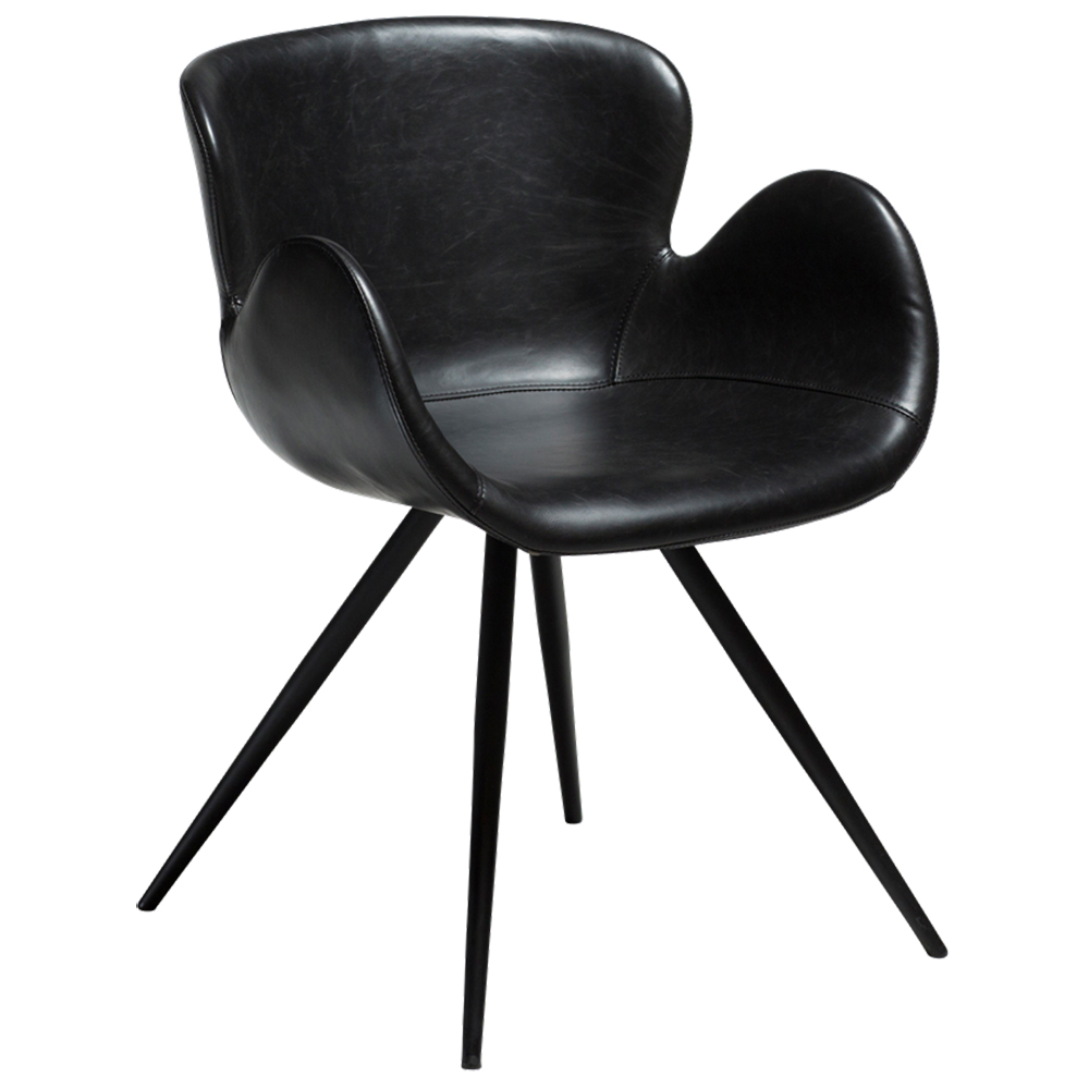 Gaia Chair Vintage Black Artificial Leather | Quick Ship