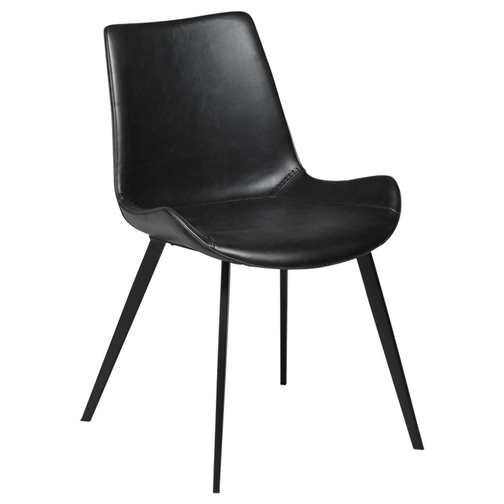 Hype Chair in Vintage Black Leather | Quick Ship
