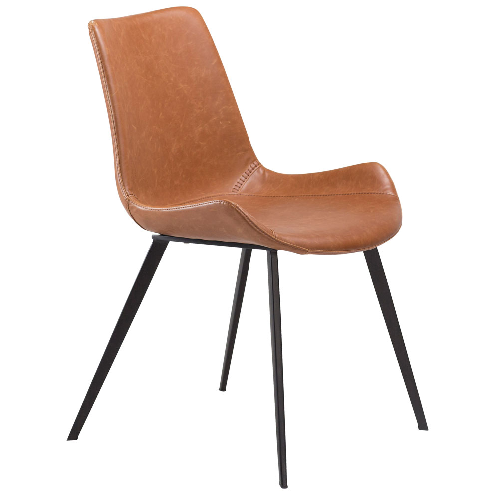 Hype Chair in Vintage Brown Leather | Quick Ship