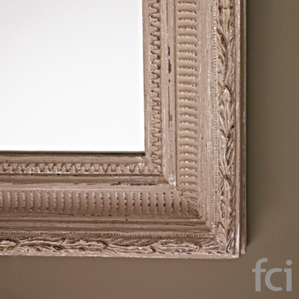 Mini Beige Wall Mirror by Reflections