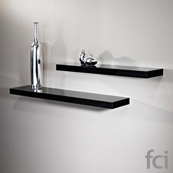 Wall Shelf Black Wall Mirror by Reflections