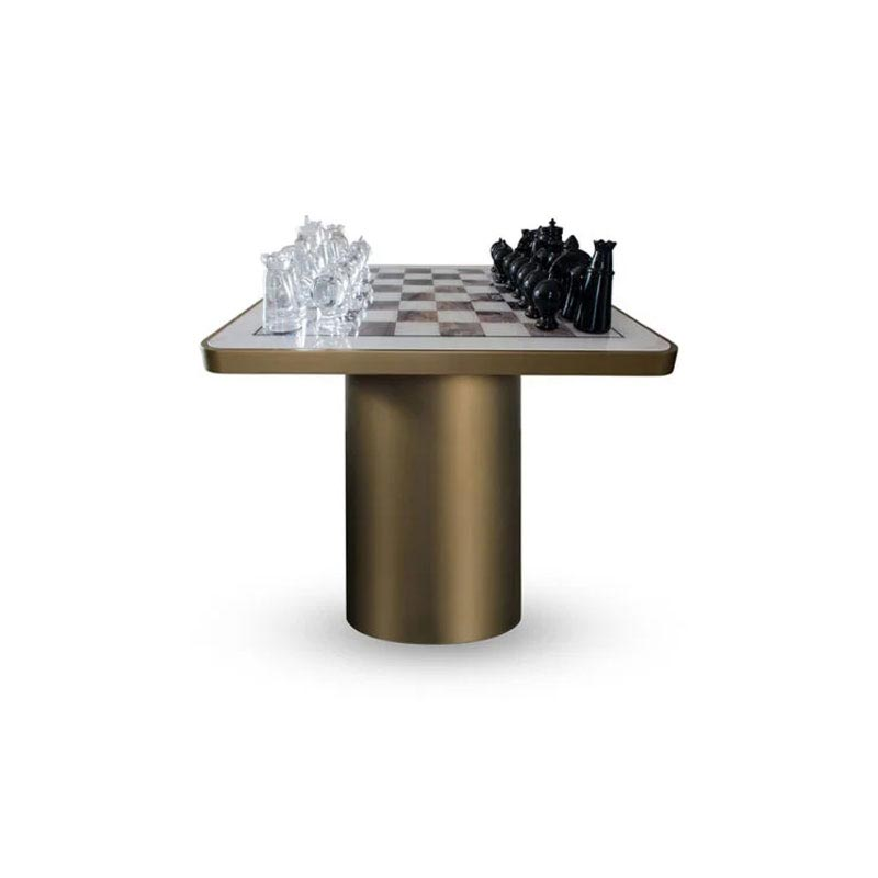 Tau 40 Steel Chess Side Table by Reflex Angelo