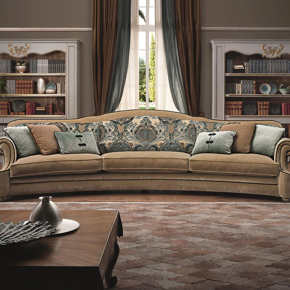 Curved Palais Royal Sofa by Silvano Luxury