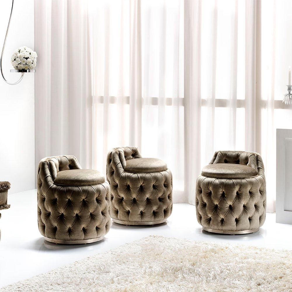 Tres Chic Footstool by Silvano Luxury