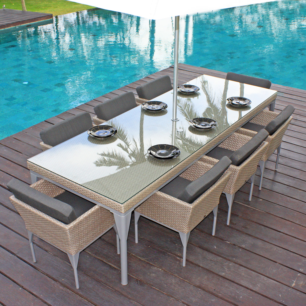 Brafta Silver Walnut Outdoor Armchair by Skyline Design