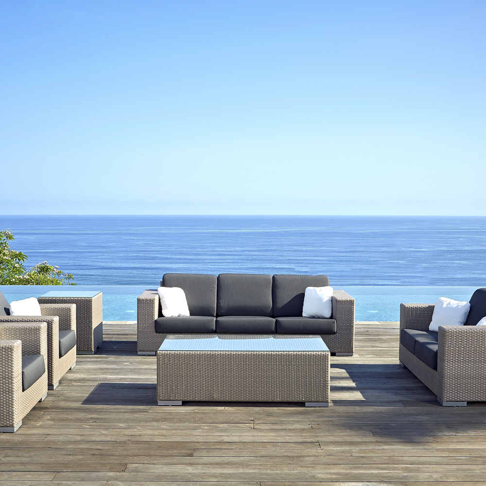 Brando Blue Outdoor Sofa by Skyline Design