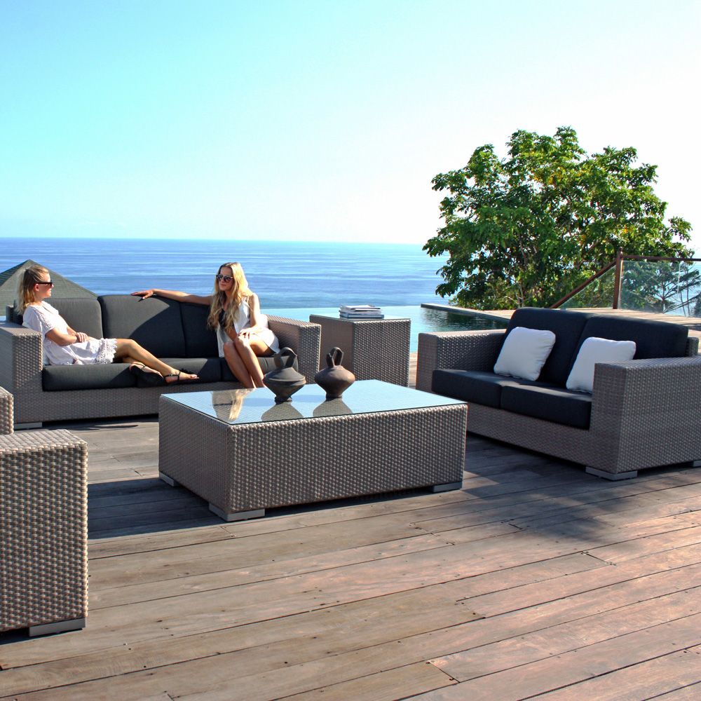 Brando Love Blue Outdoor Sofa by Skyline Design