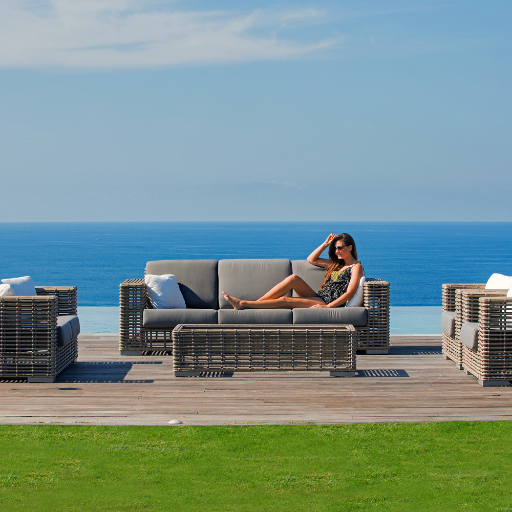 Castries Outdoor Sofa by Skyline Design