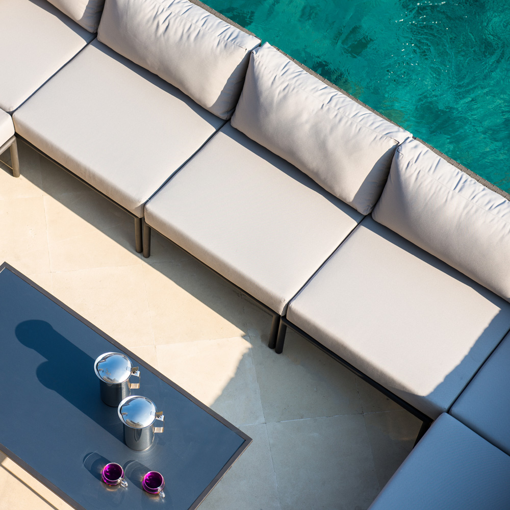 Kitt Central Outdoor Sofa by Skyline Design
