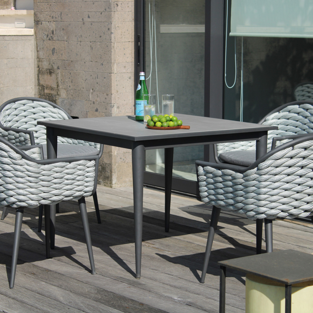 Serpent 4 Seat Dining Table by Skyline Design