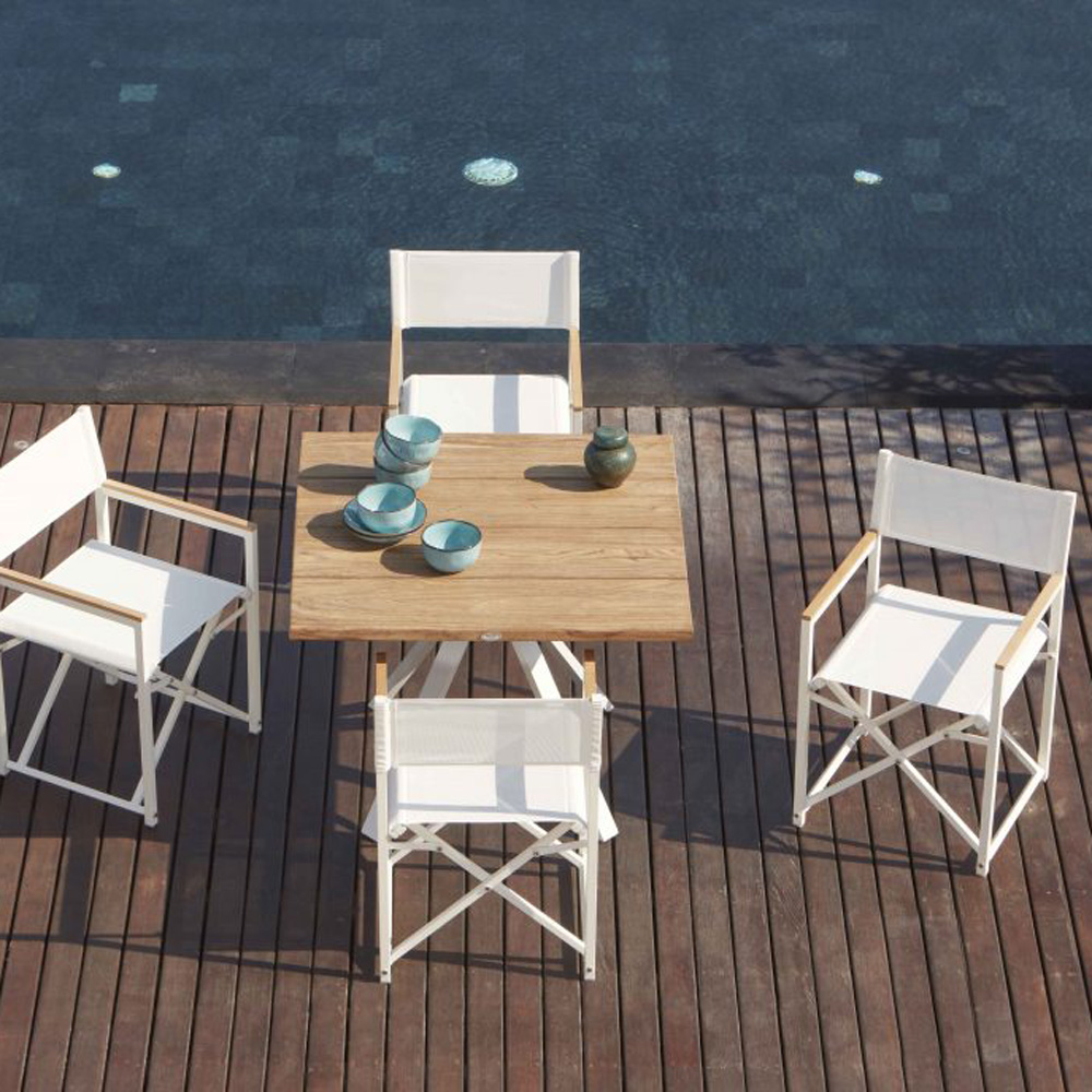 Venice White Outdoor Armchair by Skyline Design