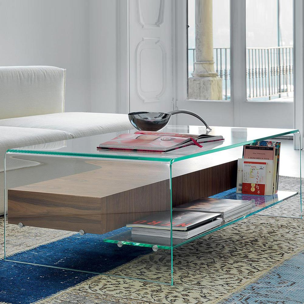 Bridge With Drawer and Shelf Coffee Table by Sovet Italia