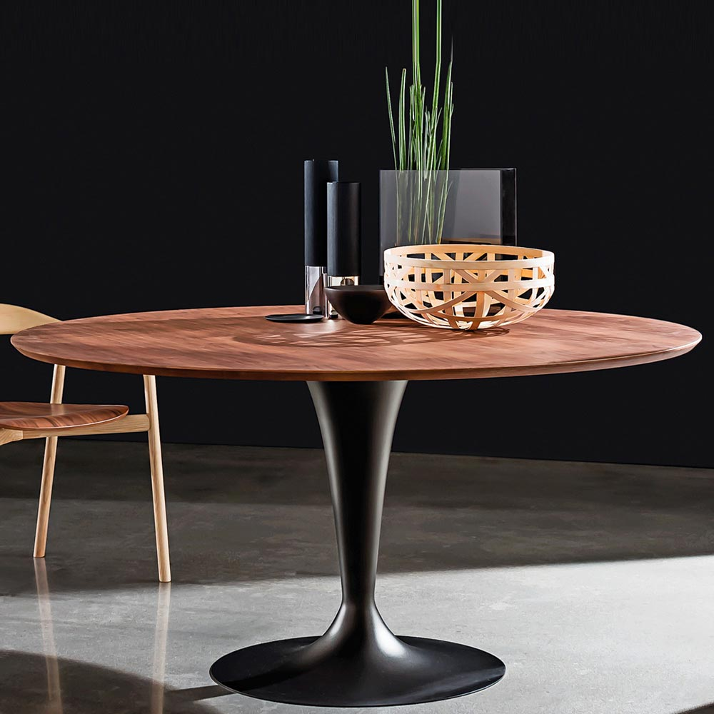 Flute Wood Dining Table by Sovet Italia