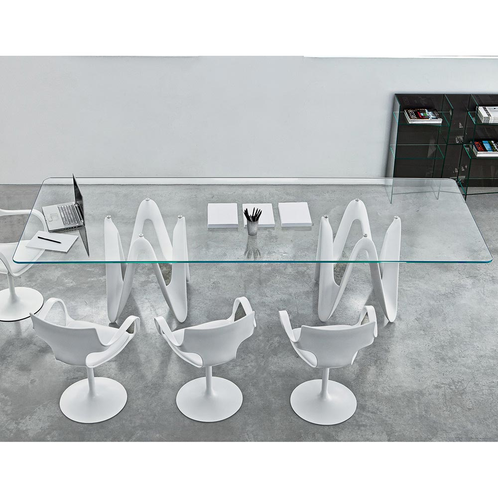 Lambda Two Bases Dining Table by Sovet Italia