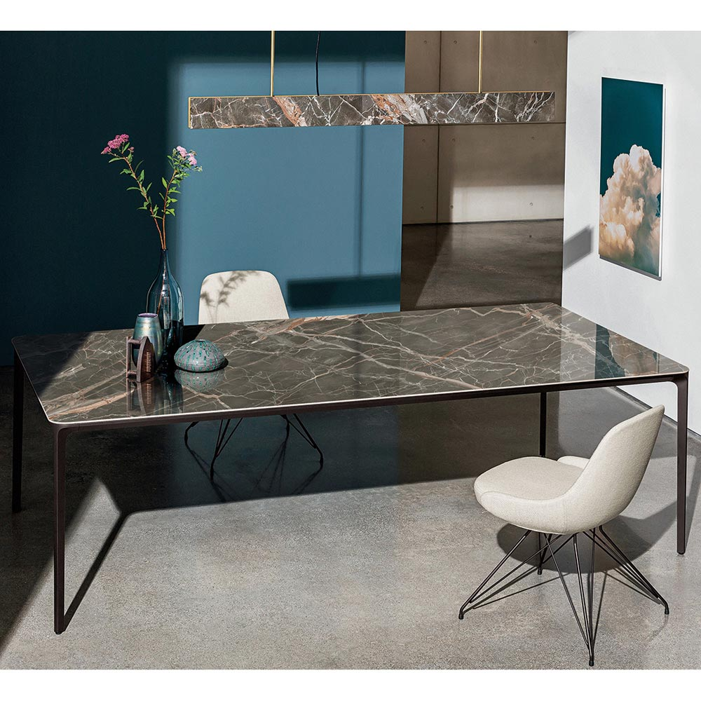 Slim Rectangular Dining Table by Sovet Italia