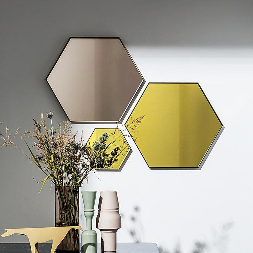 Visual Hexagonal Mirror by Sovet Italia