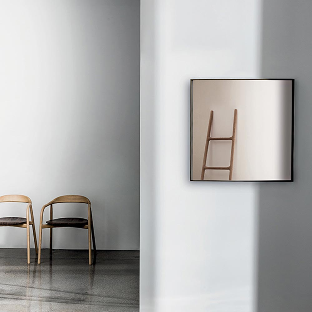 Visual Square Mirror by Sovet Italia