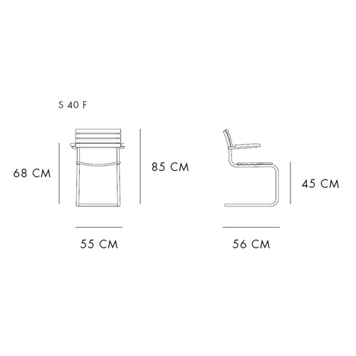 233 Armchair by Thonet