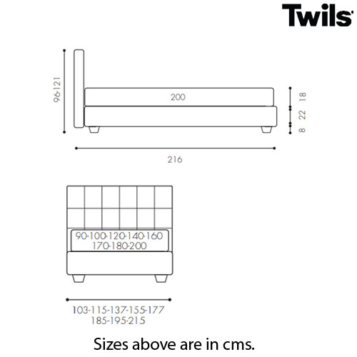 Max Capitonne Low.22 Single Bed by Twils