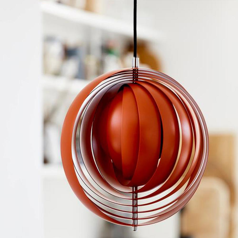 Moon Dia 34 Cm Orange Pendant Lamp by Verpan