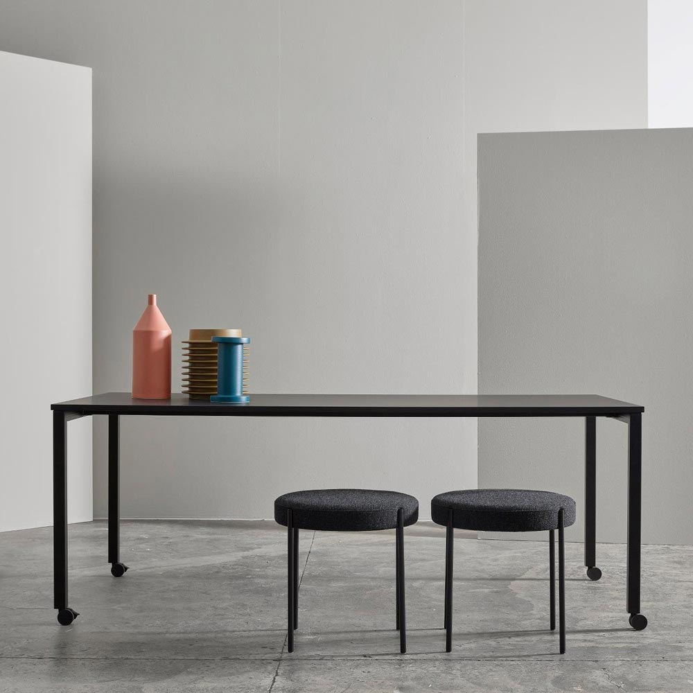 Panton Move Black Dining Table by Verpan