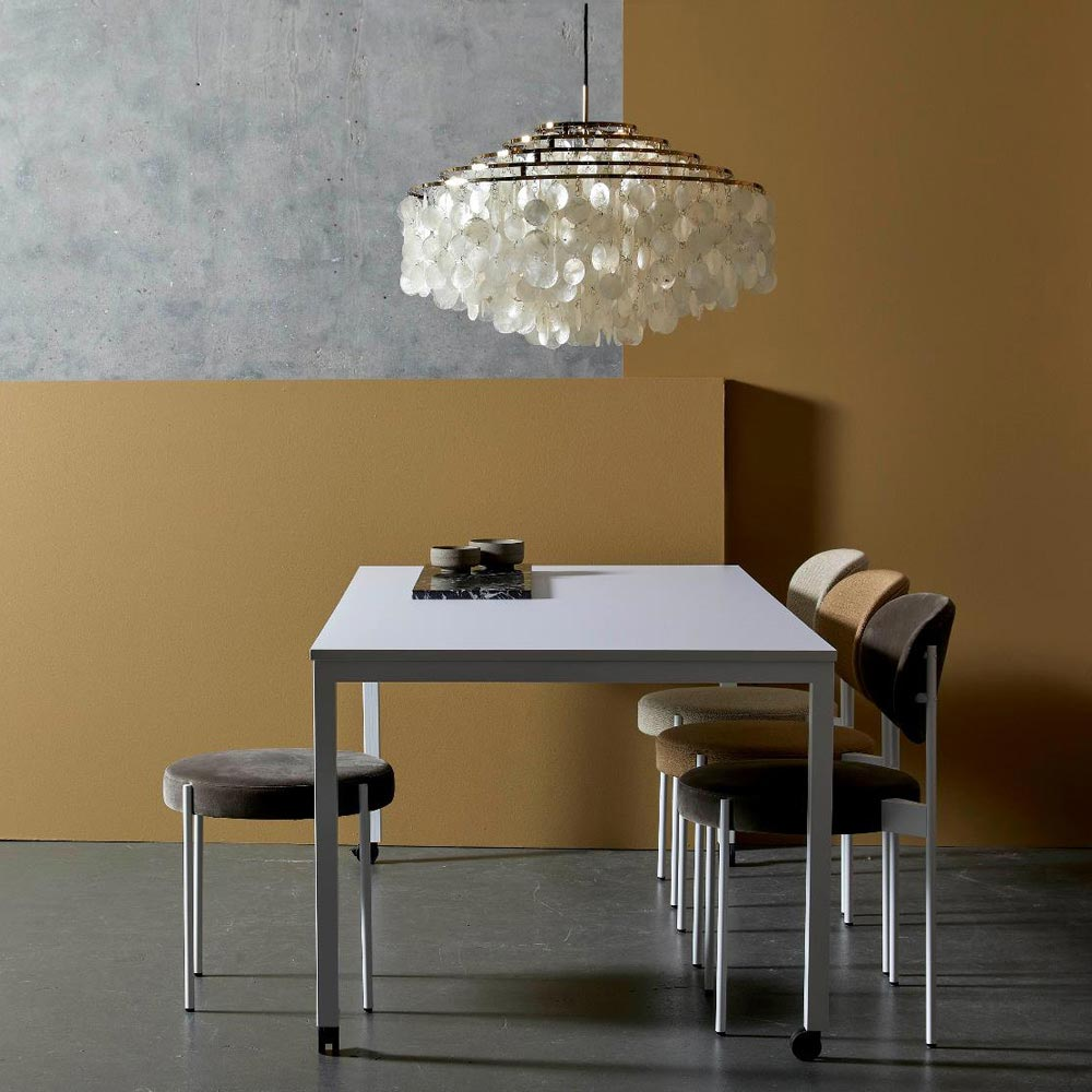 Panton Move White Dining Table by Verpan