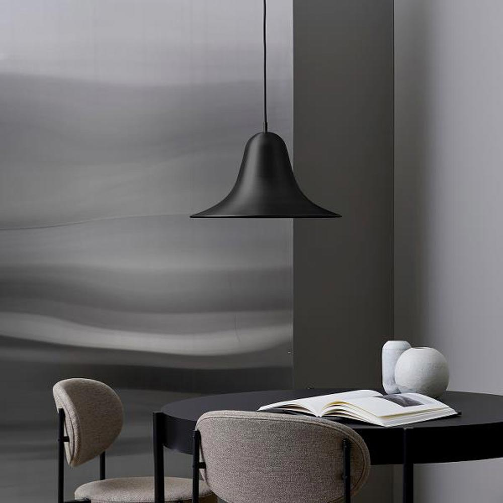 Pantop 45 Black Pendant Lamp by Verpan