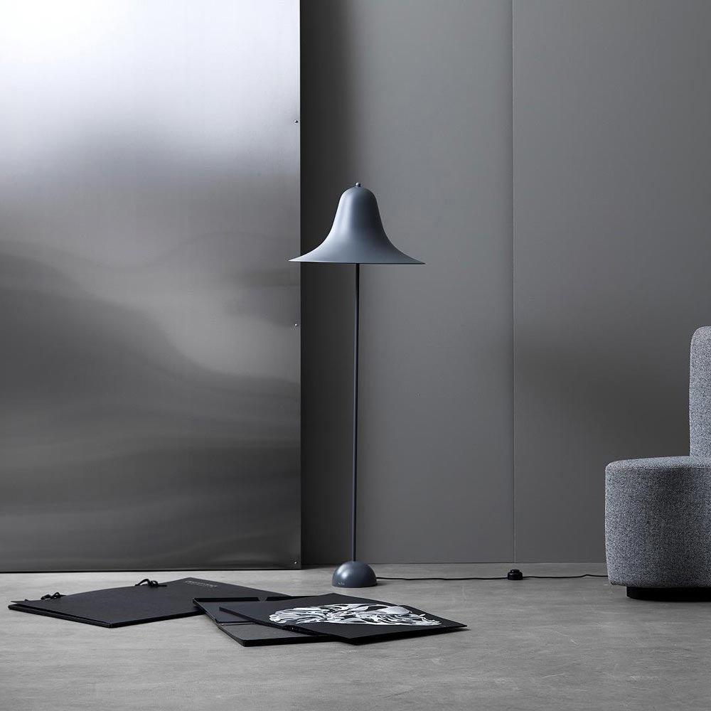 Pantop 45 Grey Floor Lamp by Verpan
