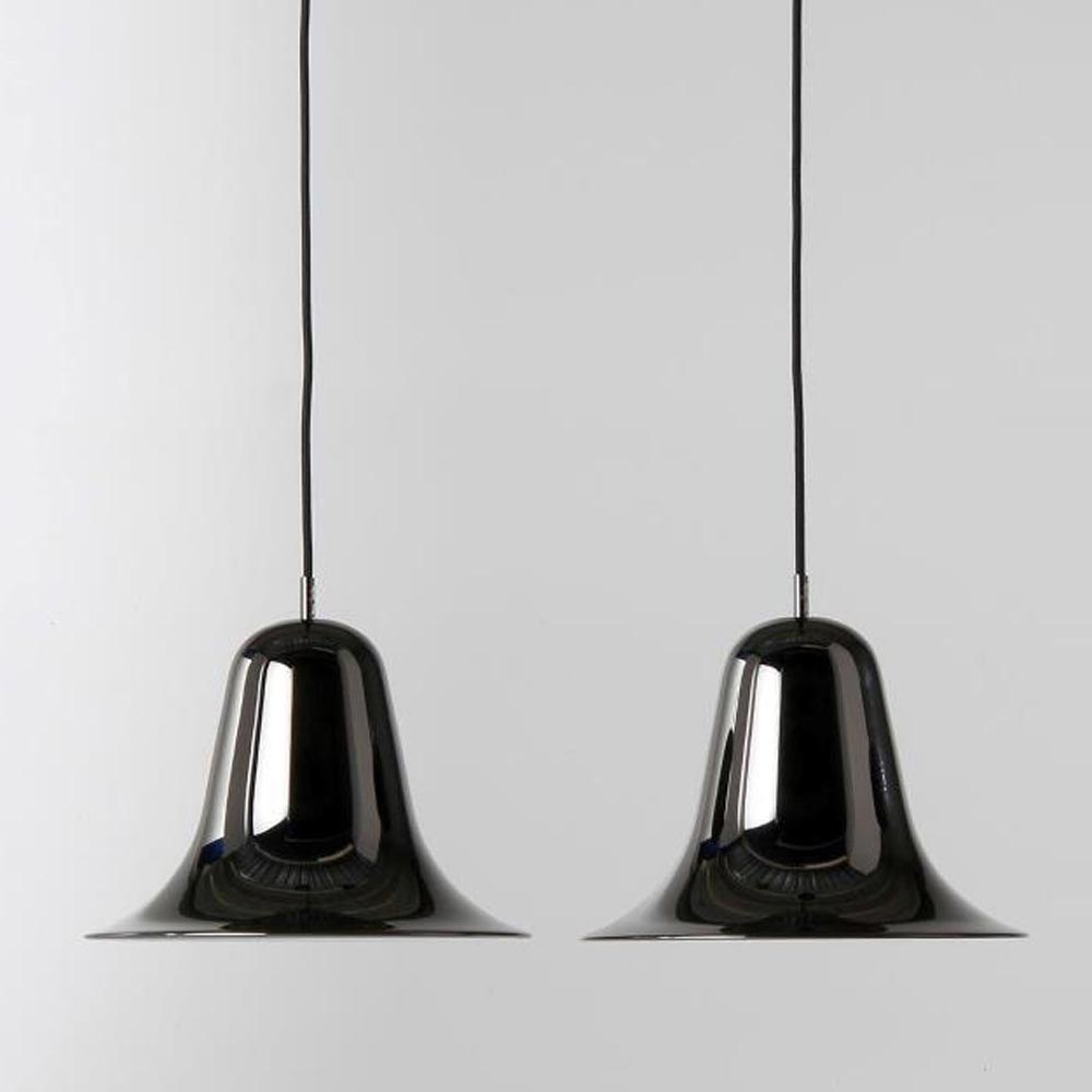 Pantop Black Chrome Pendant Lamp by Verpan