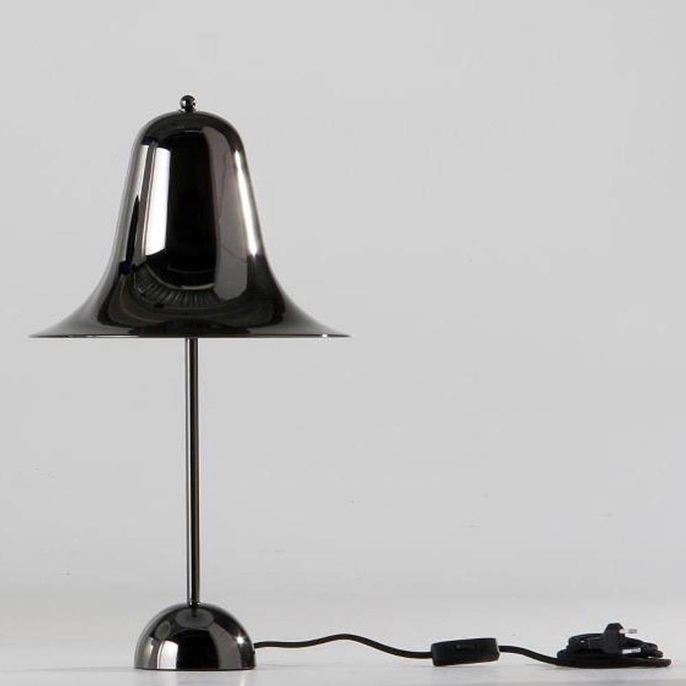 Pantop Black Chrome Table Lamp by Verpan