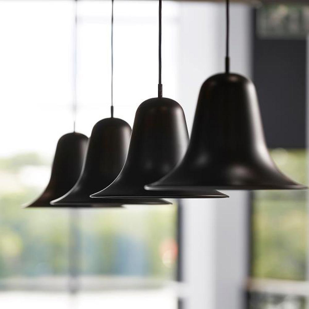 Pantop Black Pendant Lamp by Verpan