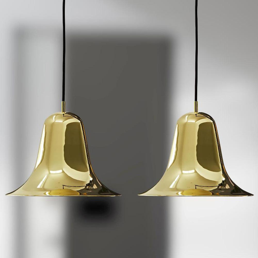 Pantop Brass Pendant Lamp by Verpan
