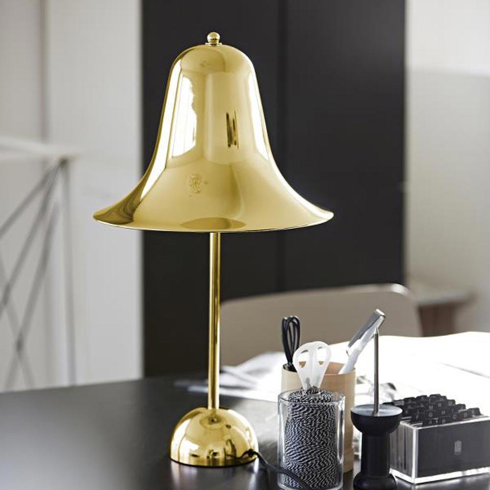 Pantop Brass Table Lamp by Verpan