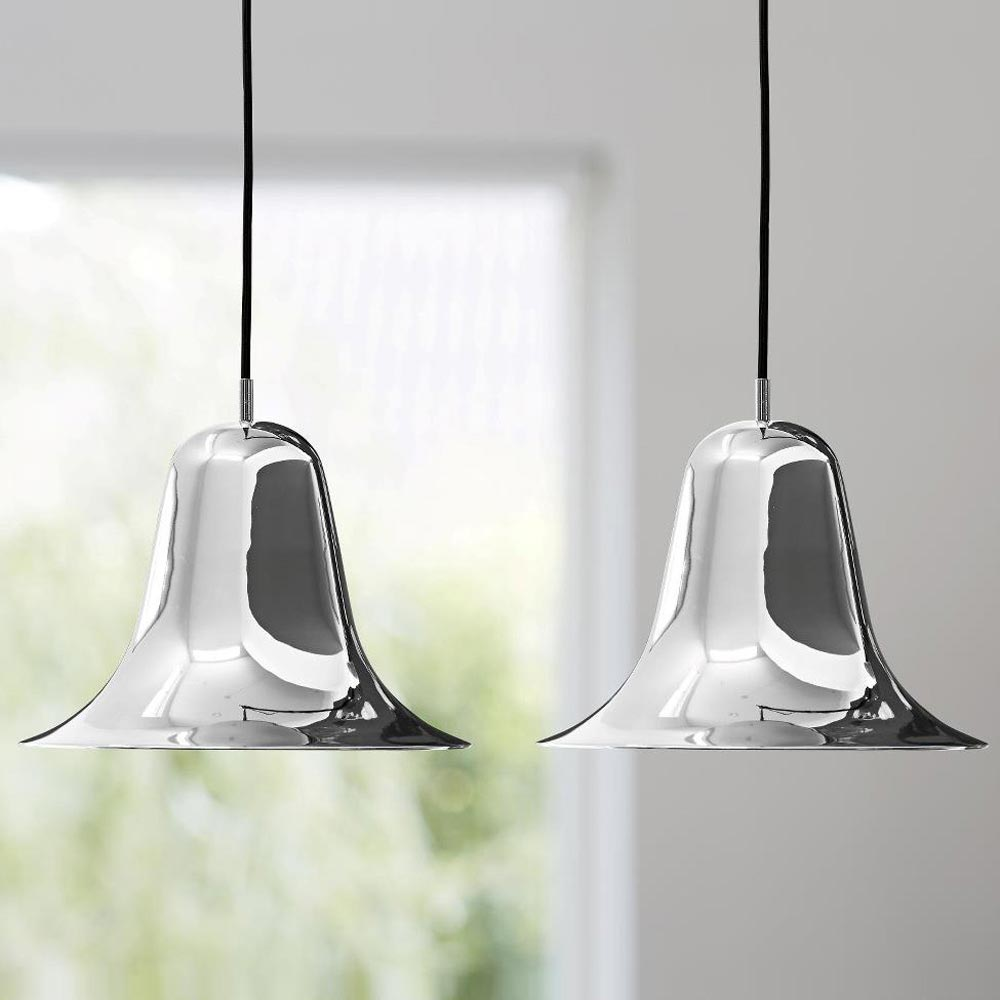 Pantop Chrome Pendant Lamp by Verpan