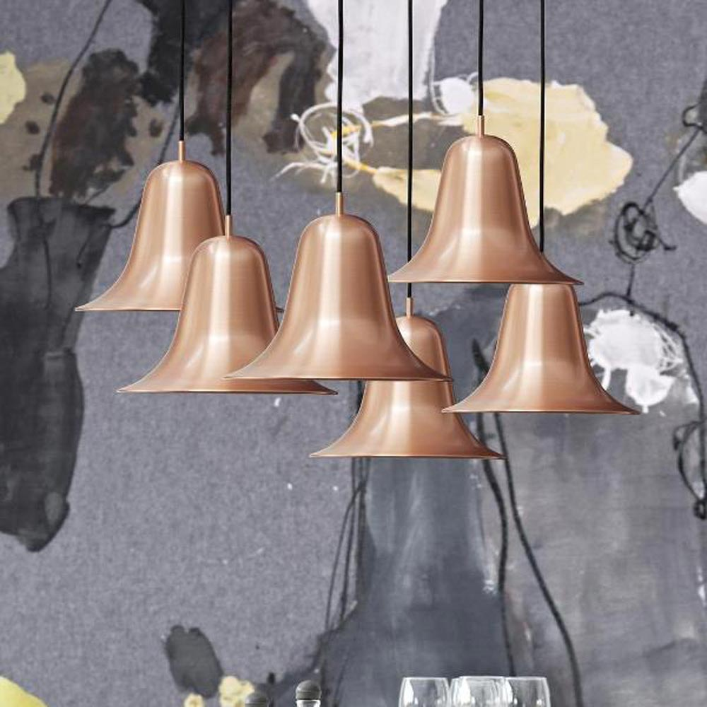Pantop Copper Pendant Lamp by Verpan
