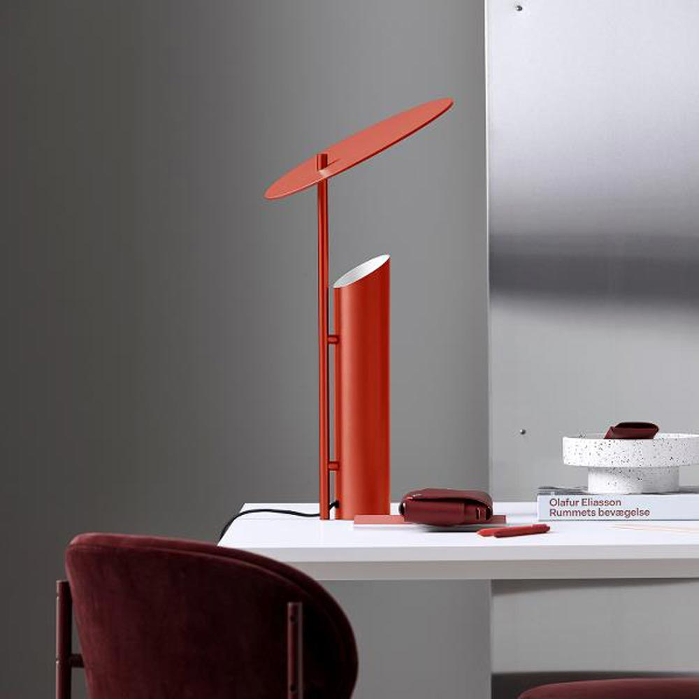 Reflect Red Table Lamp by Verpan