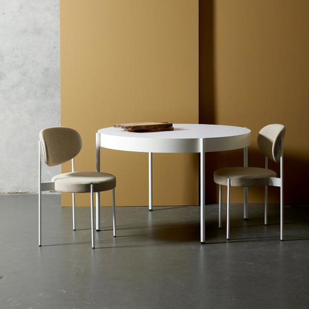 Series 430 White Dining Table by Verpan