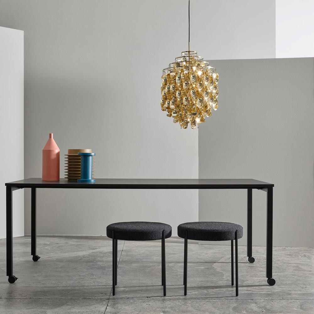 Spiral Sp01 Gold Pendant Lamp by Verpan