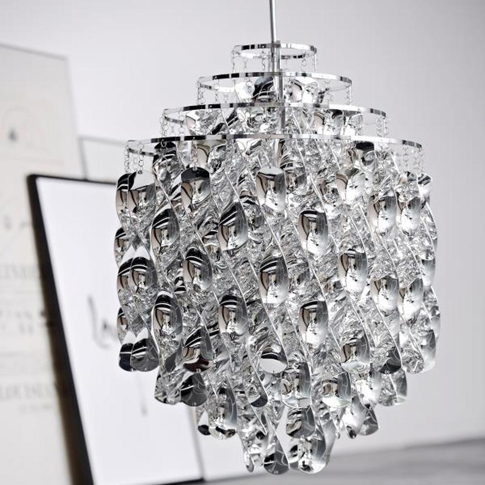 Spiral Sp01 Silver Pendant Lamp by Verpan